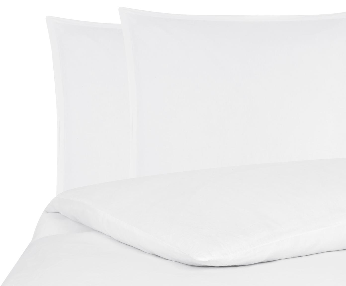 Pościel z lnu z efektem sprania Nature, Biały, 240 x 220 cm