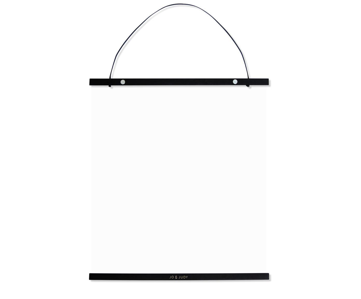 Barra magnetica per poster Hanga, Legno verniciato, Nero, dorato, 40 x 50 cm