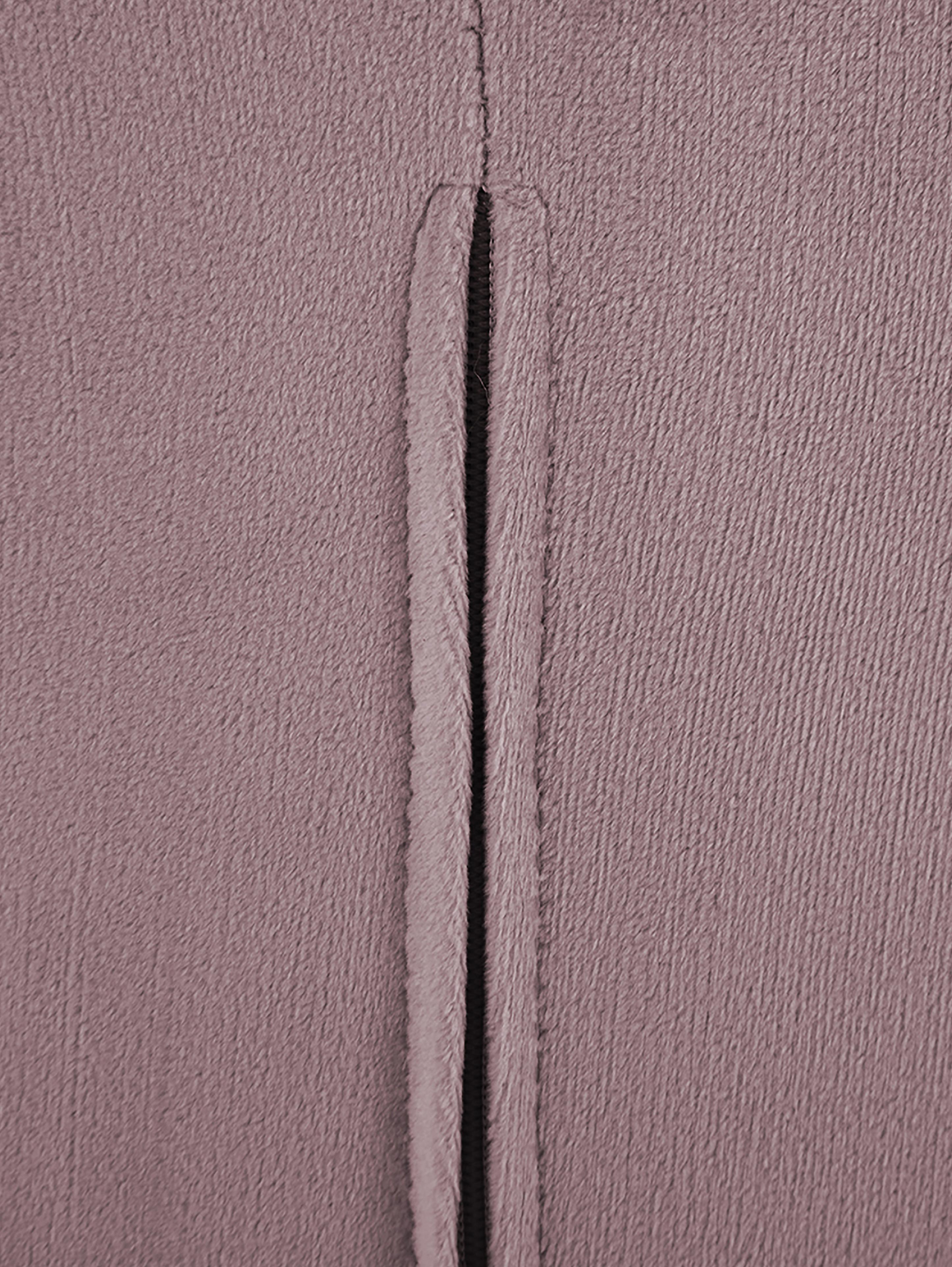 Samt-Cocktailsessel Louise in Rosa, Bezug: Samt (Polyester) 30.000 S, Füße: Metall, beschichtet, Samt Mauve, B 76 x T 74 cm