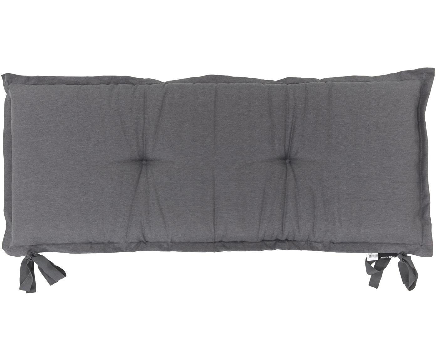 Cuscino sedia lungo Panama, 50% cotone, 45% poliestere, 5% altre fibre, Antracite, Larg. 48 x Lung. 120 cm