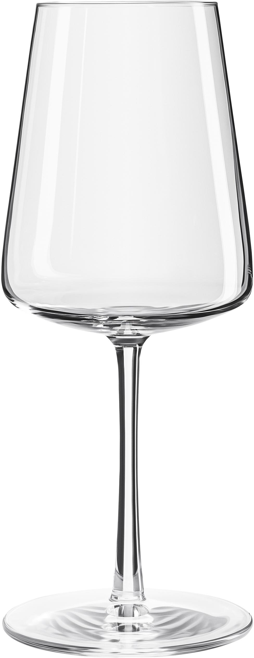Kryształowy kieliszek do białego wina Power, 6 szt., Szkło kryształowe, Transparentny, Ø 9 x W 21 cm