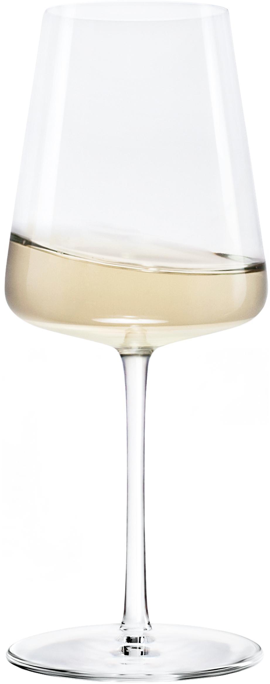 Bicchieri da vino bianco in cristallo Power 6 pz, Cristallo, Trasparente, Ø 9 x Alt. 21 cm