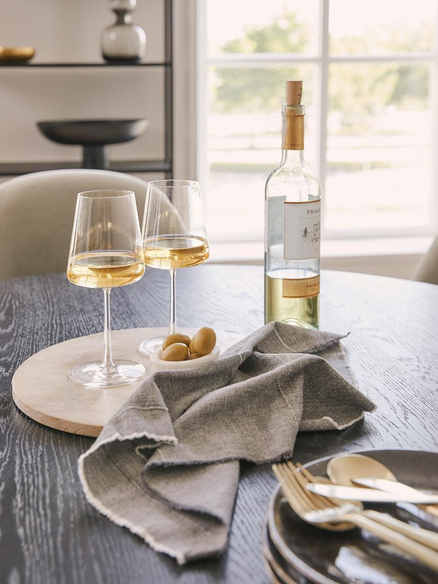 Kristall-Weißweingläser Power in Kegelform, 6er-Set, Kristallglas, Transparent, Ø 9 x H 21 cm
