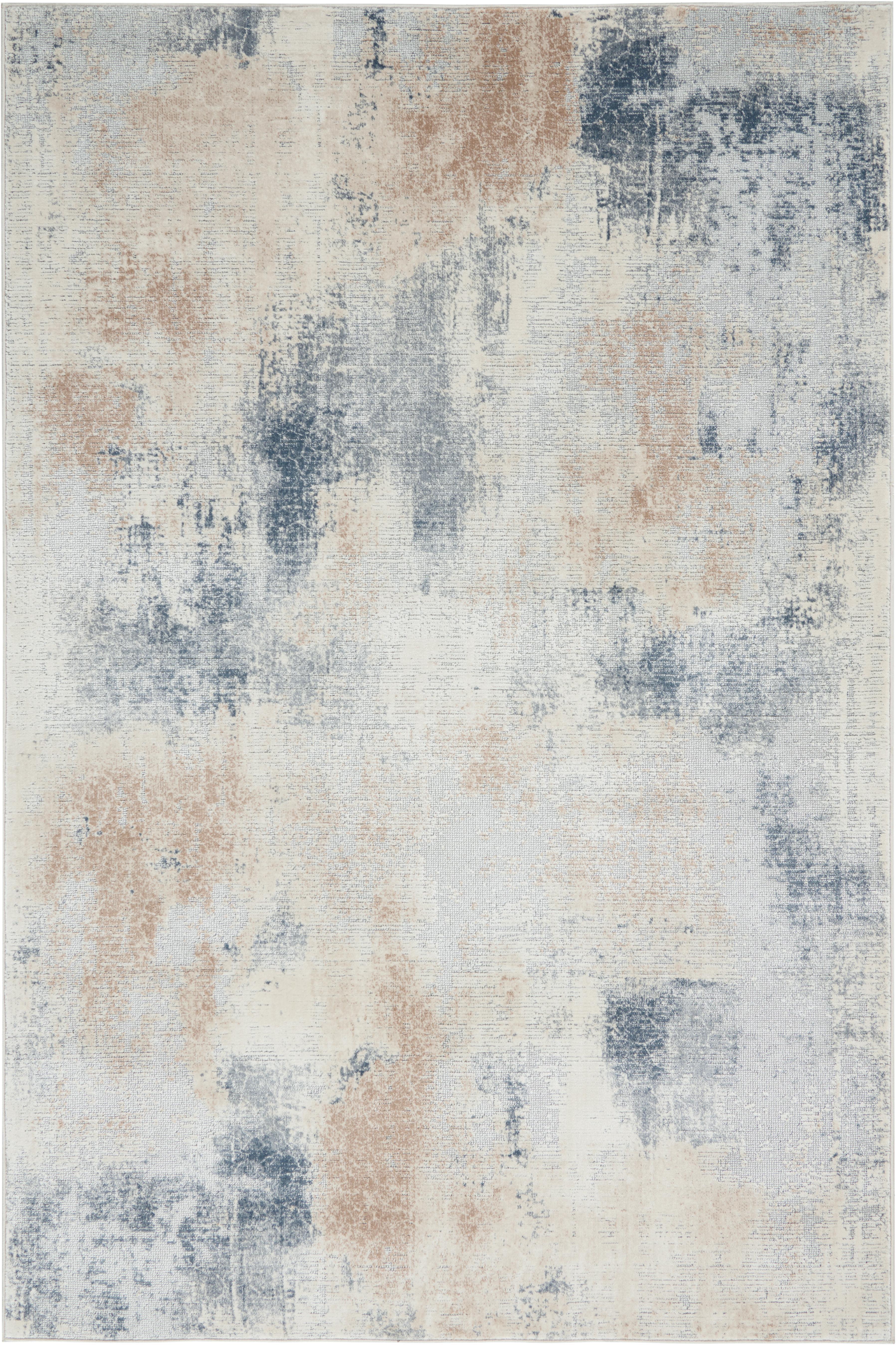 Designteppich Rustic Textures II in Beige/Grau, Flor: 51%Polypropylen, 49%Pol, Beigetöne, Grau, B 160 x L 220 cm (Größe M)