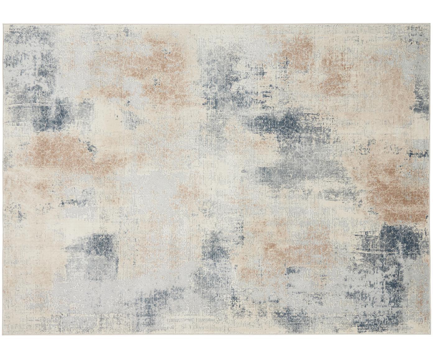 Design vloerkleed Rustic Textures II in beige-grijs, Bovenzijde: 51%polypropyleen, 49%po, Onderzijde: 50%jute, 50%latex, Beigetinten, grijs, B 160 x L 220 cm (maat M)