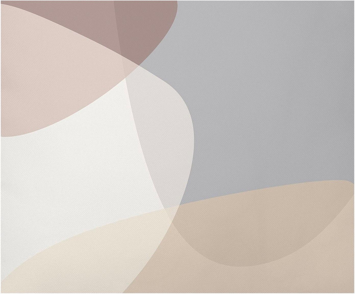 Housse de coussin à imprimé géométrique Graphic, Beige, gris, crème, vieux rose
