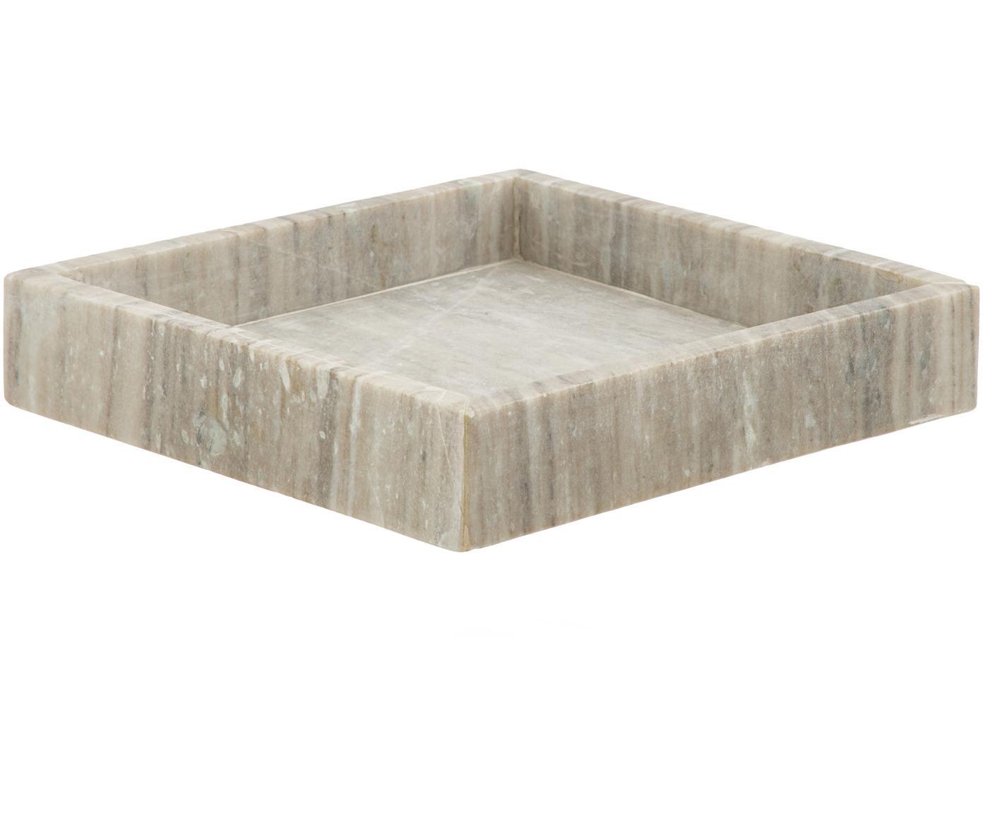 Vassoio in marmo Porter, Marmo, Taupe, Larg. 26 x Prof. 26 cm