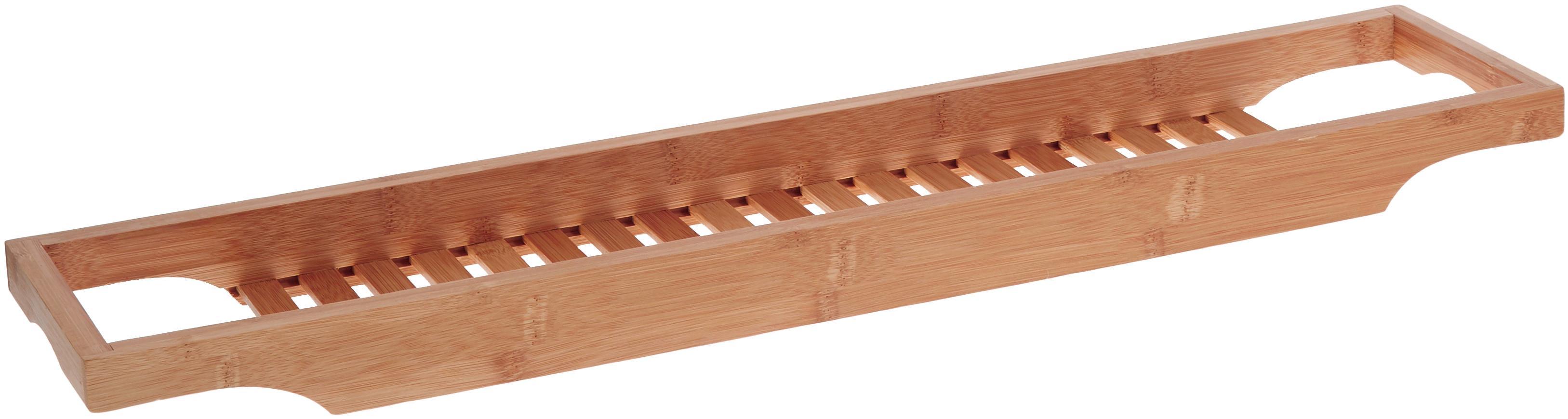 Badplank Bambel van bamboehout, Bamboehout, Bruin, 70 x 5 cm