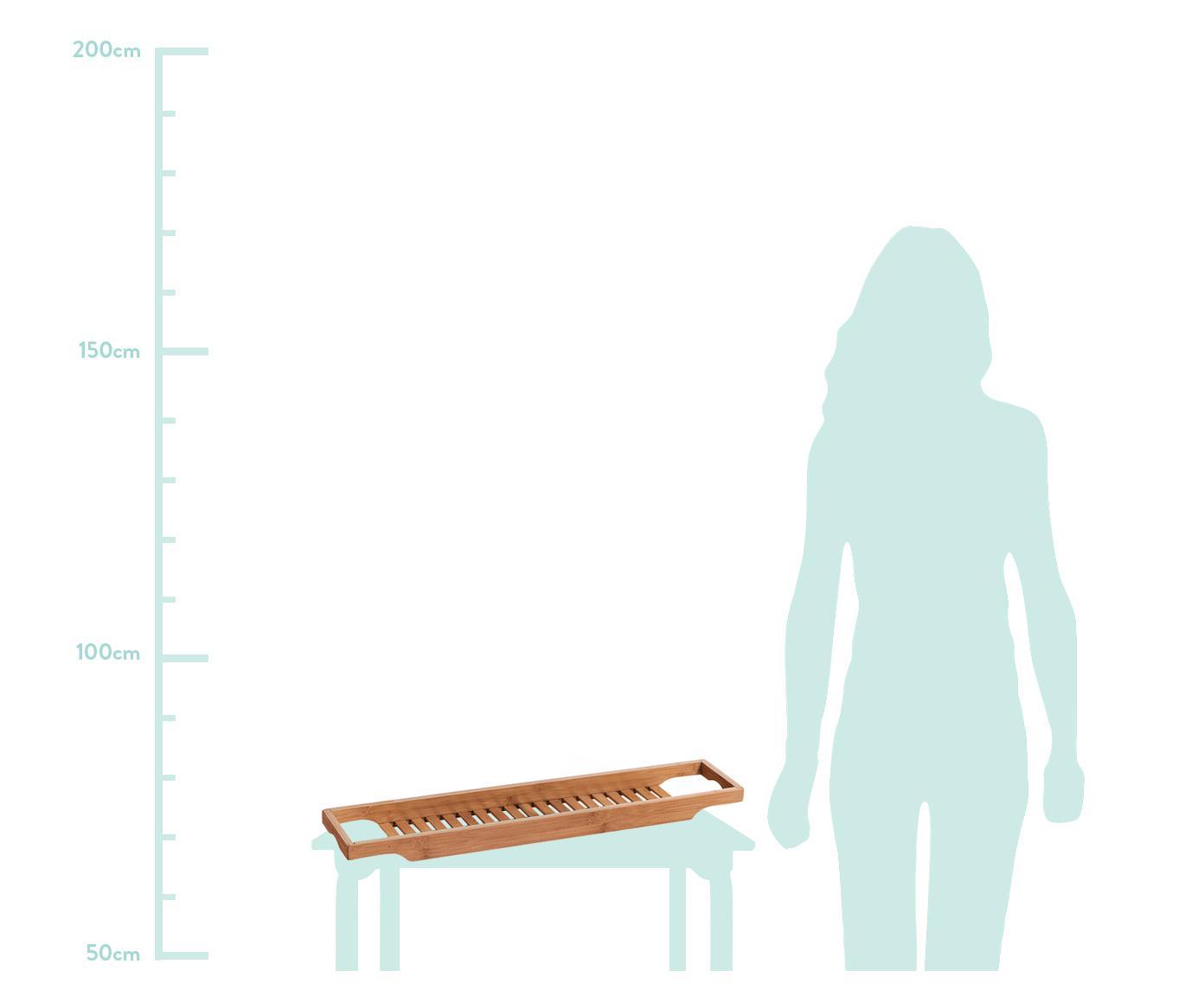 Mensoletta per la vasca Bambel in bambù, Bambù, Marrone, Larg. 70 x Alt. 5 cm