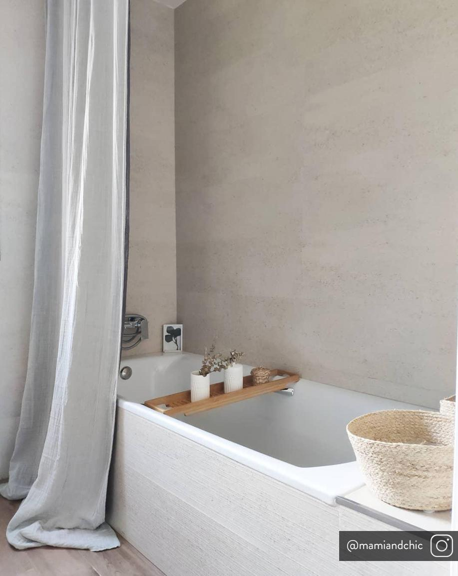 Estante de bañera Bambel, Bambú, Marrón, An 70 x Al 5 cm