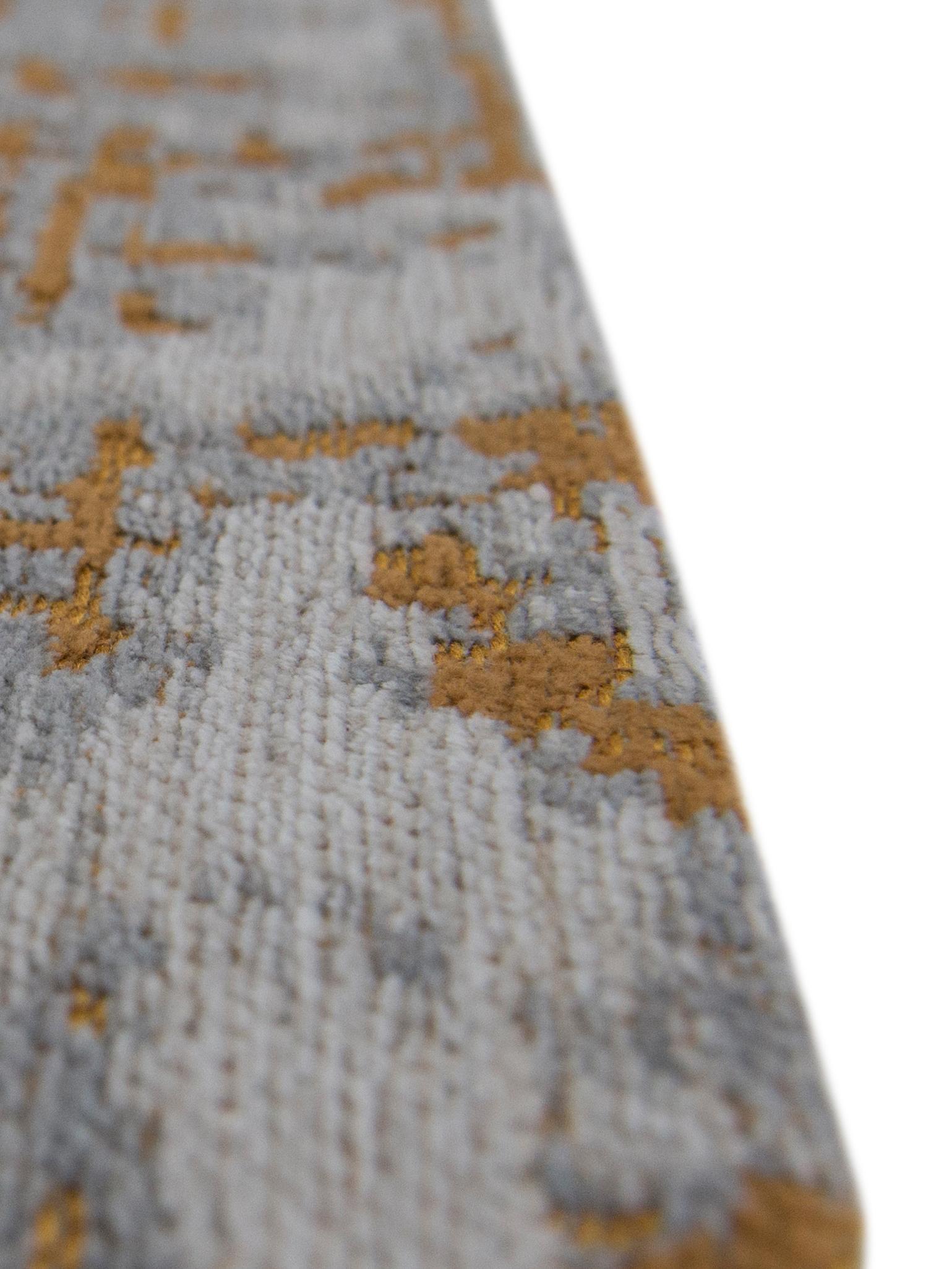 Tapis gris doré Griff, Endroit: gris, couleur dorée, blanc cassé