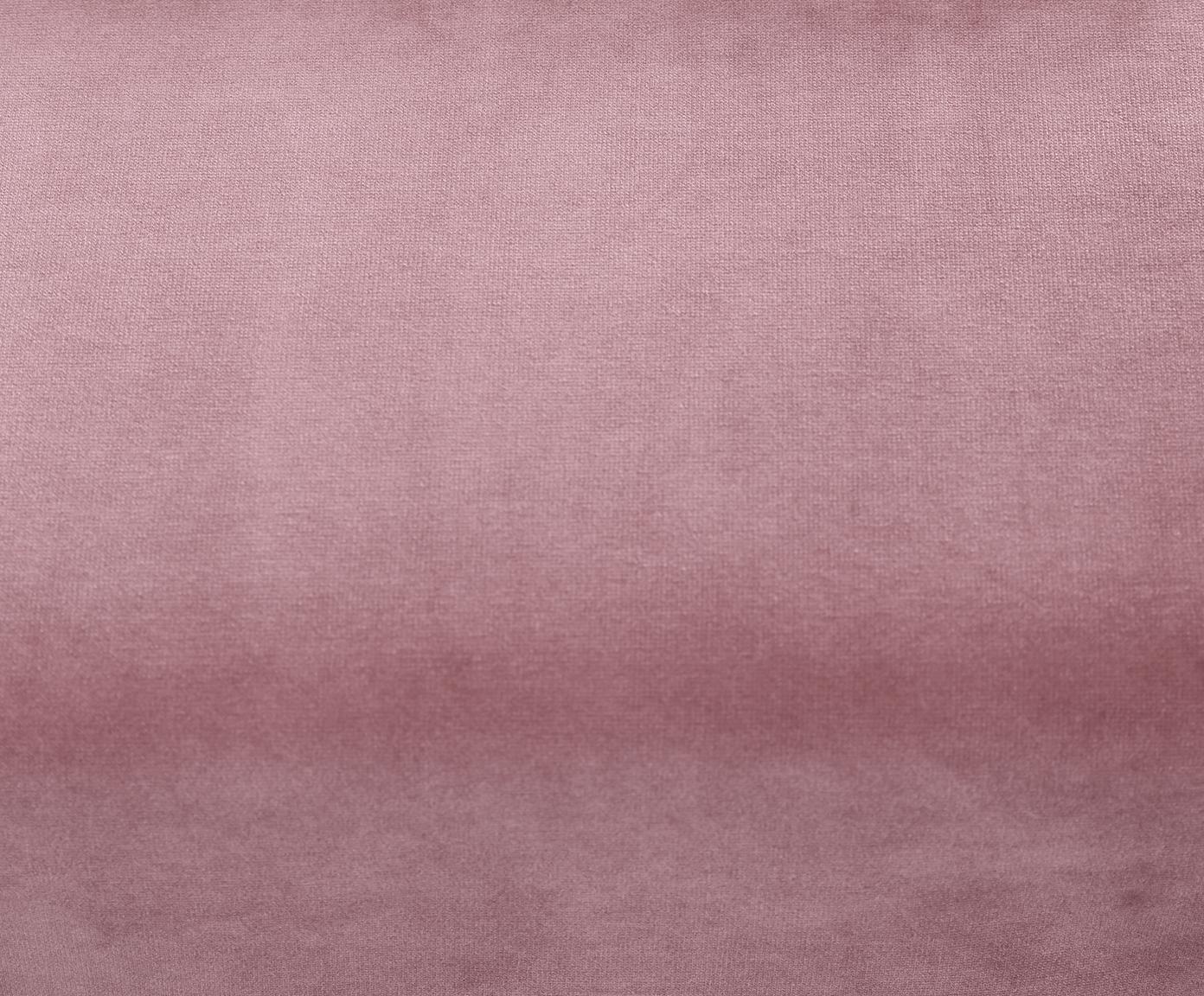 Fluwelen fauteuil Fluente, Bekleding: fluweel (hoogwaardig poly, Frame: massief grenenhout, Poten: gelakt metaal, Roze, B 76 x D 83 cm