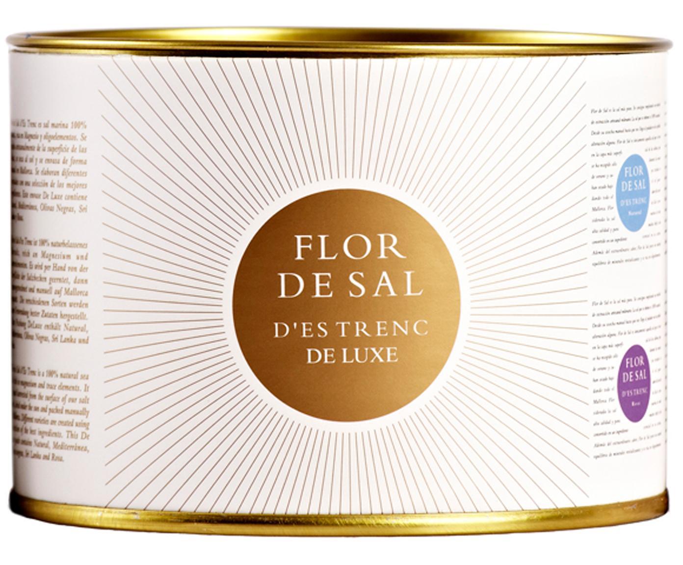 Gewürzsalz-Set Flor de Sal d´Es Trenc DeLuxe, 5-tlg., Dose: Pappmembran, Creme, Goldfarben, 250 g