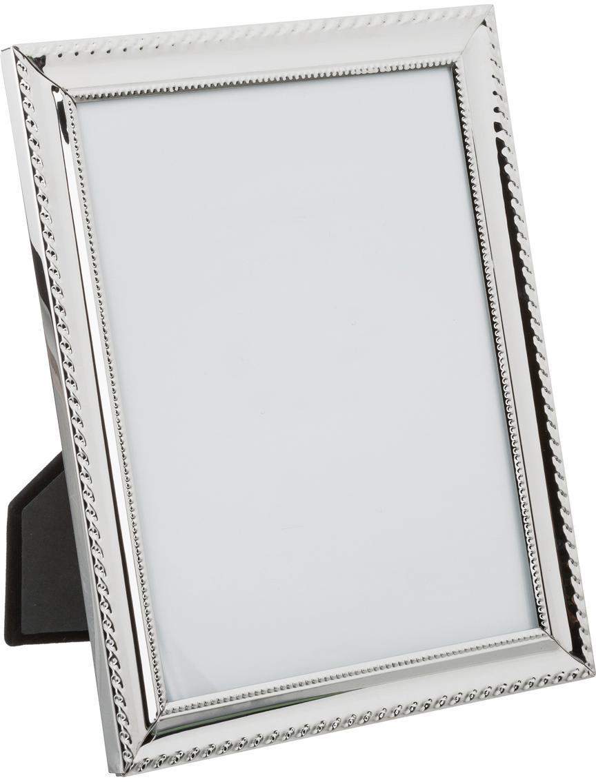 Bilderrahmen Julie, Rahmen: Metall, Front: Glas, Silberfarben, Transparent, 15 x 20 cm