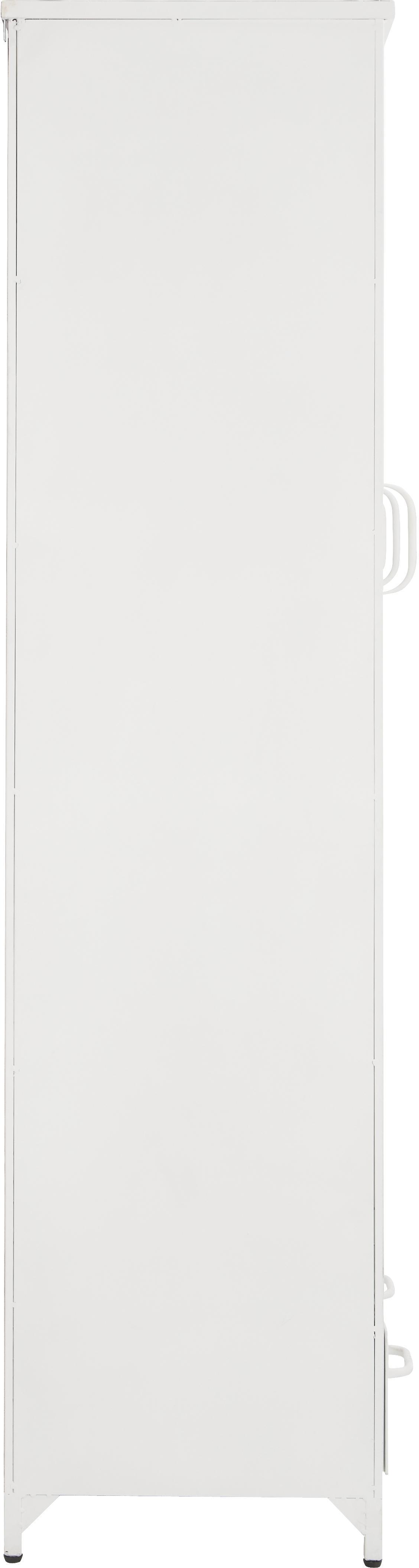 Vitrinenschrank Looki mit Glastüren, Front: Glas, Weiß, 125 x 180 cm