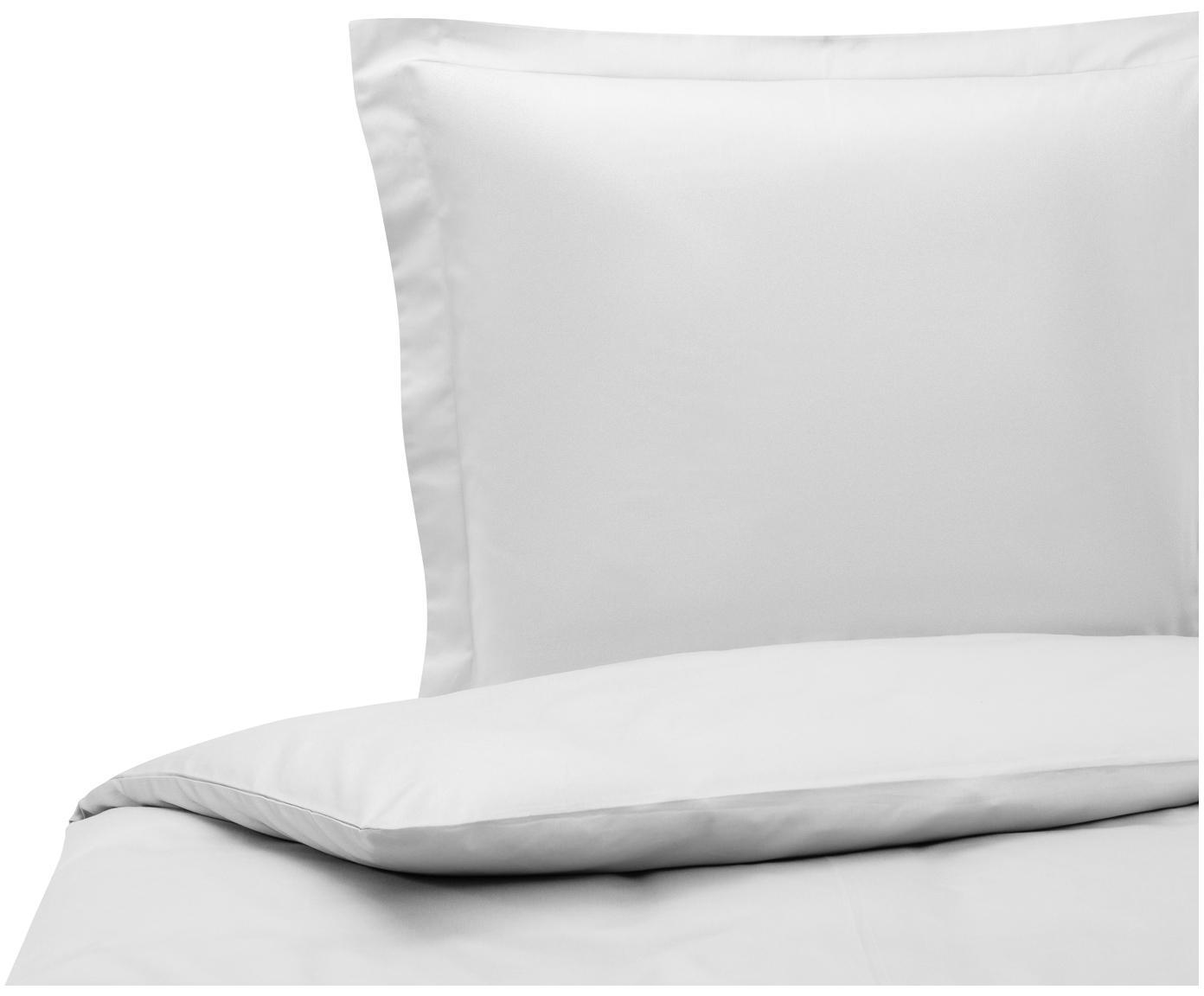 Katoensatijnen dekbedovertrek Premium, Weeftechniek: satijn, licht glanzend, Lichtgrijs, 140 x 200 cm
