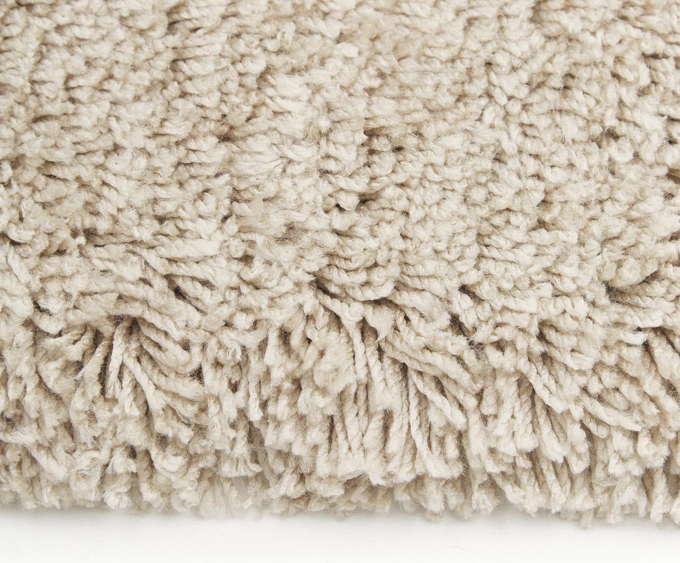 Flauschiger Hochflor-Teppich Dreamy mit Fransen, Flor: 100% Polyester, Creme, Ø 200 cm (Größe L)
