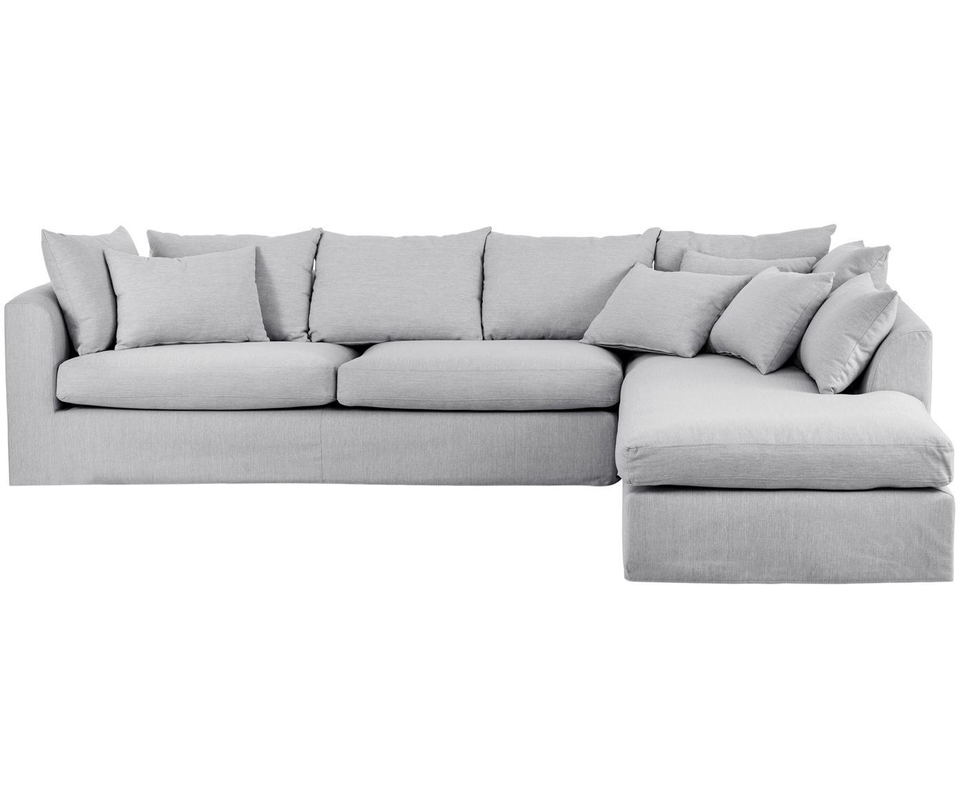 Ecksofa Zach, Bezug: Polypropylen, Webstoff Grau, B 300 x T 213 cm