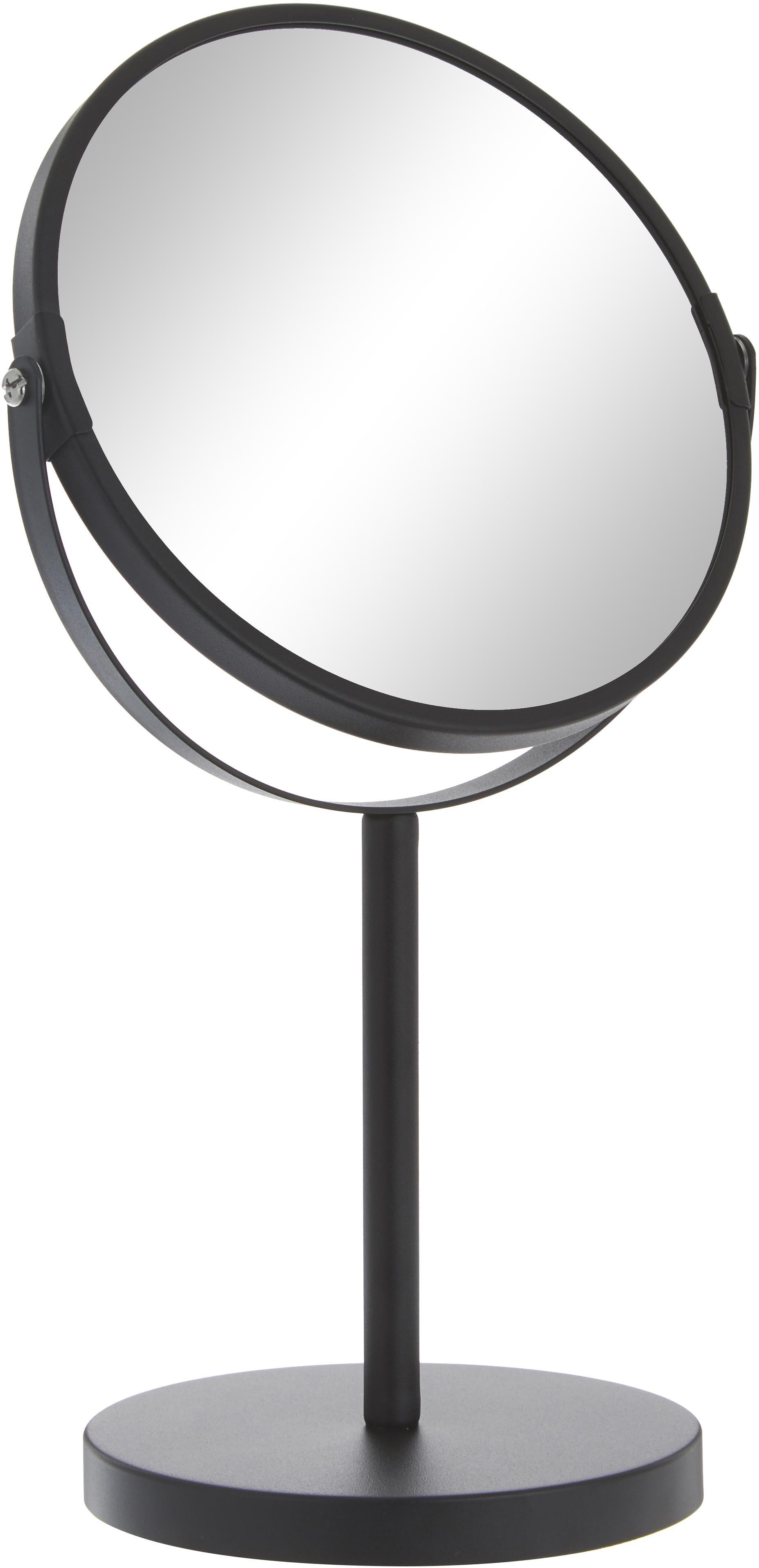 Kosmetikspiegel Classic mit Vergrösserung, Rahmen: Metall, Spiegelfläche: Spiegelglas, Rahmen: SchwarzSpiegelfläche: Spiegelglas, Ø 20 x H 35 cm