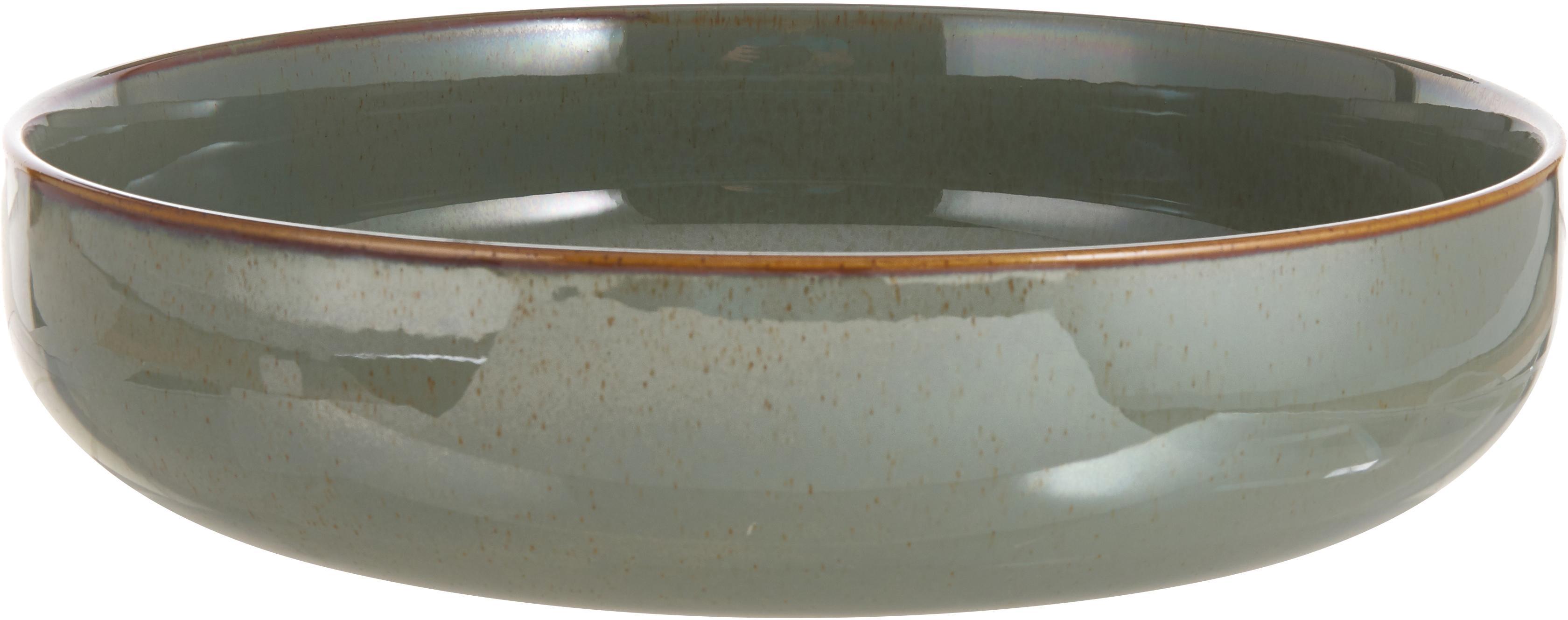 Serveerschaal Pixie, Keramiek, Groentinten, Ø 28 x H 7 cm