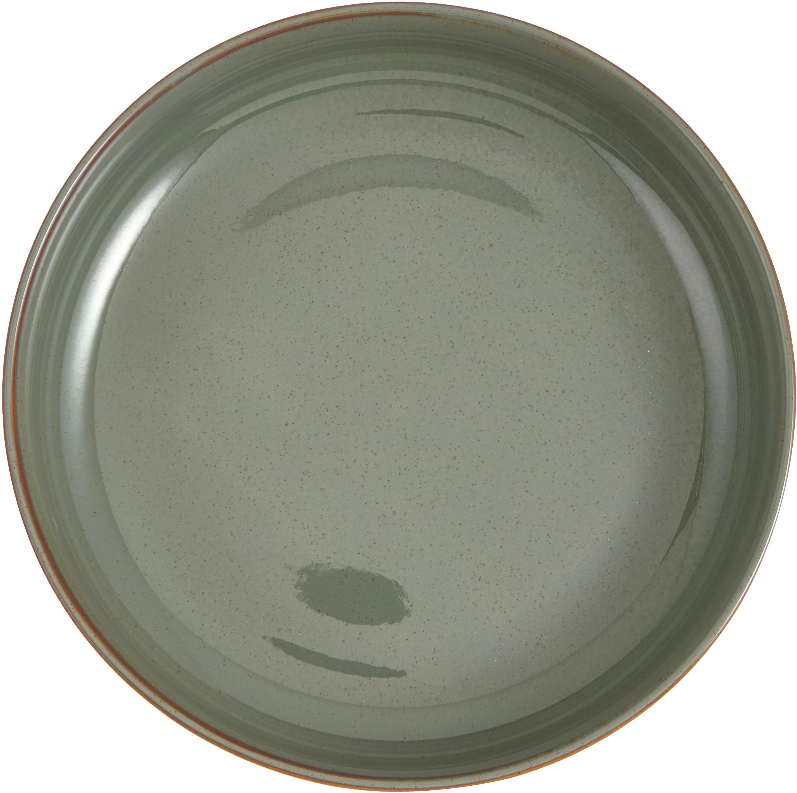 Miska do serwowania Pixie, Kamionka, Odcienie zielonego, Ø 28 x W 7 cm
