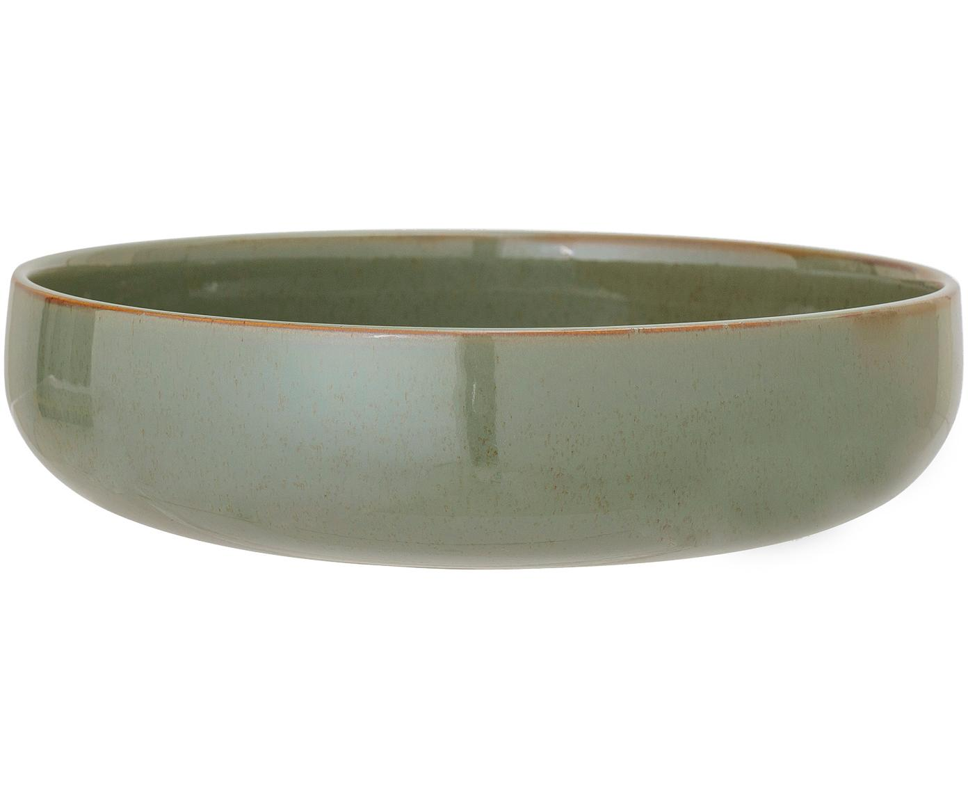 Ciotola da servizio Pixie, Terracotta, Toni verdi, Ø 28 x A 7 cm