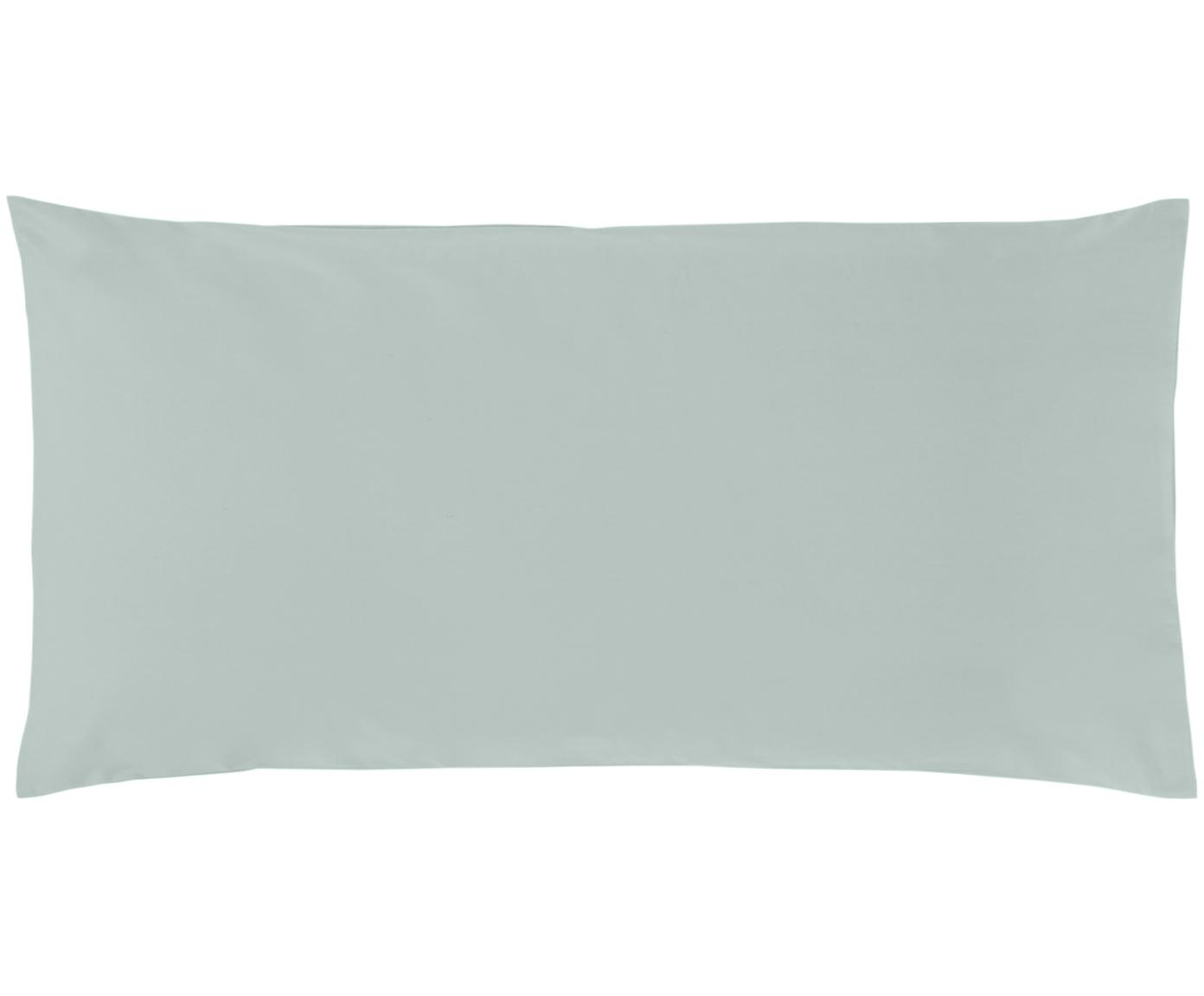 Baumwollperkal-Kissenbezüge Elsie in Salbeigrün, 2 Stück, Webart: Perkal Fadendichte 200 TC, Salbeigrün, 40 x 80 cm