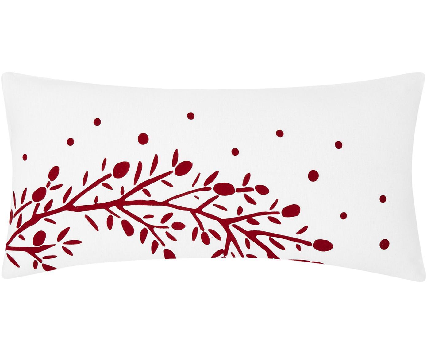 Flanell-Kissenbezüge Mistletoe, 2 Stück, Webart: Flanell Flanell ist ein s, Weiß, Rot, 40 x 80 cm