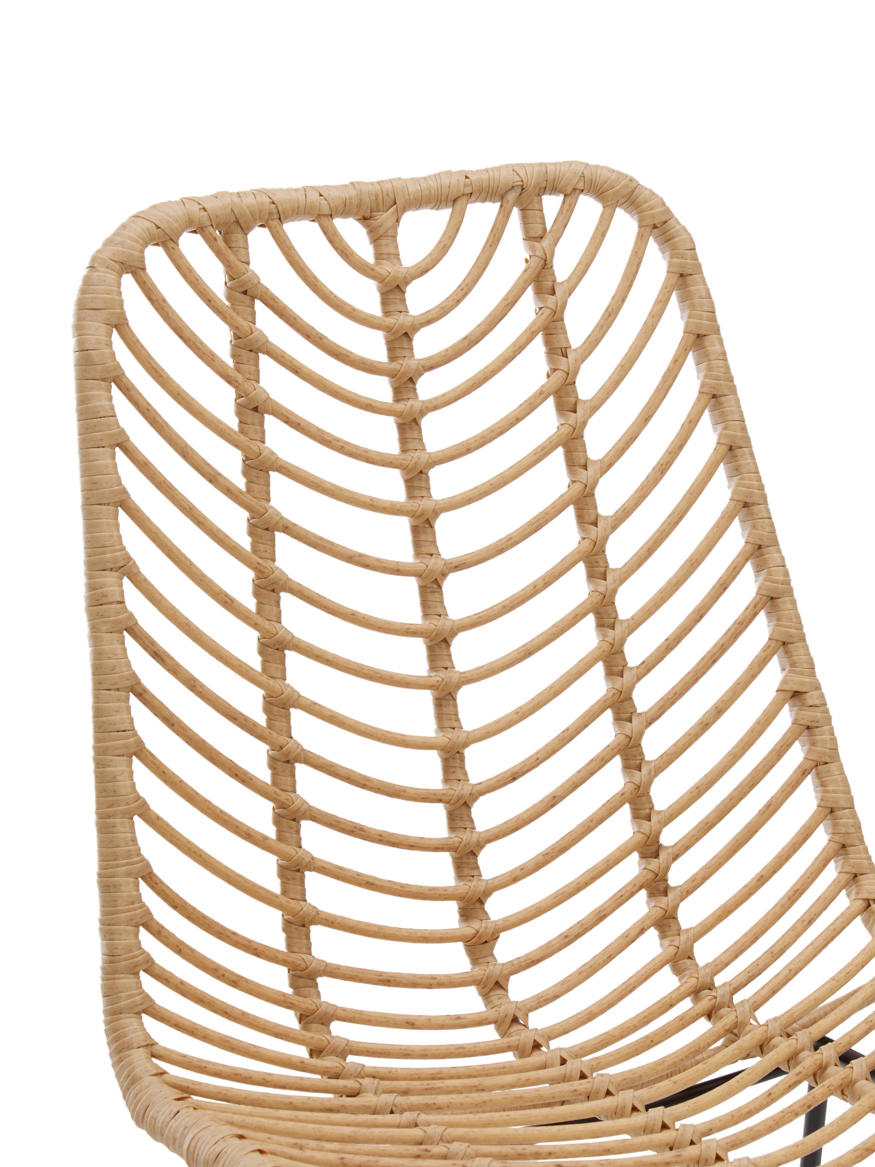 Chaise tressée Providencia, Brun