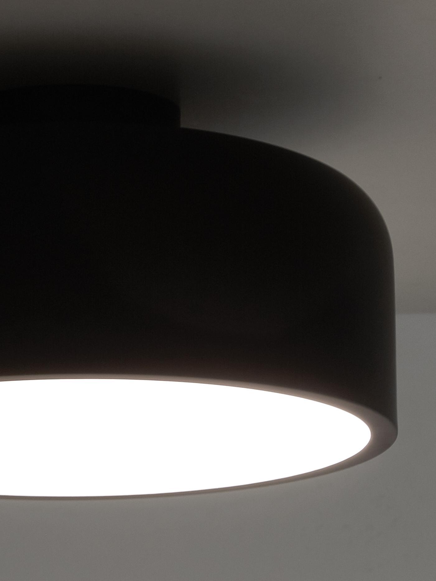 Skandi-Deckenleuchte Ole, Diffusorscheibe: Acryl, Schwarz, matt, Ø 35 x H 18 cm
