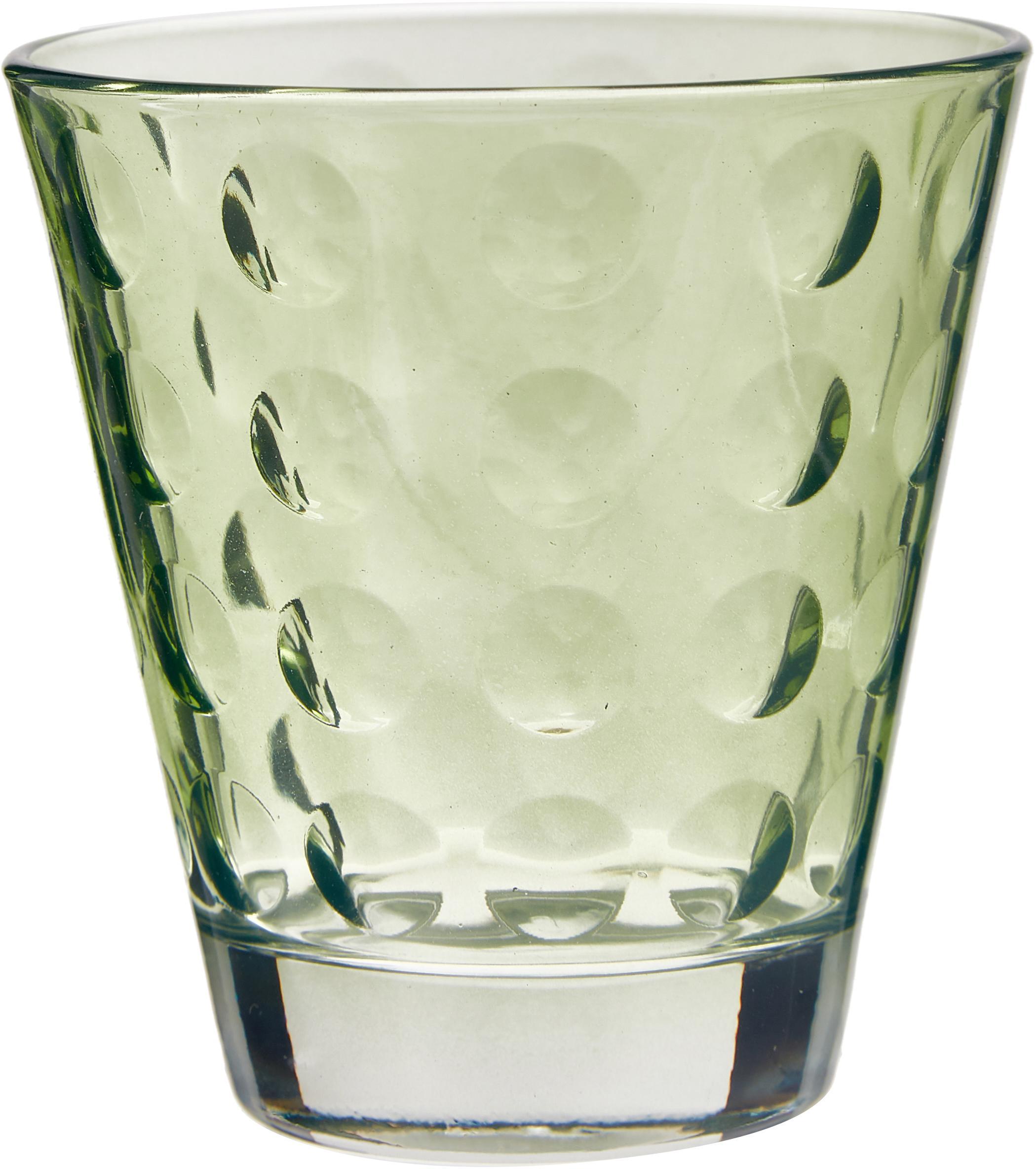 Set di 6 bicchieri acqua colorati Gunnar, Vetro, Multicolore, Ø 9 x Alt. 9 cm