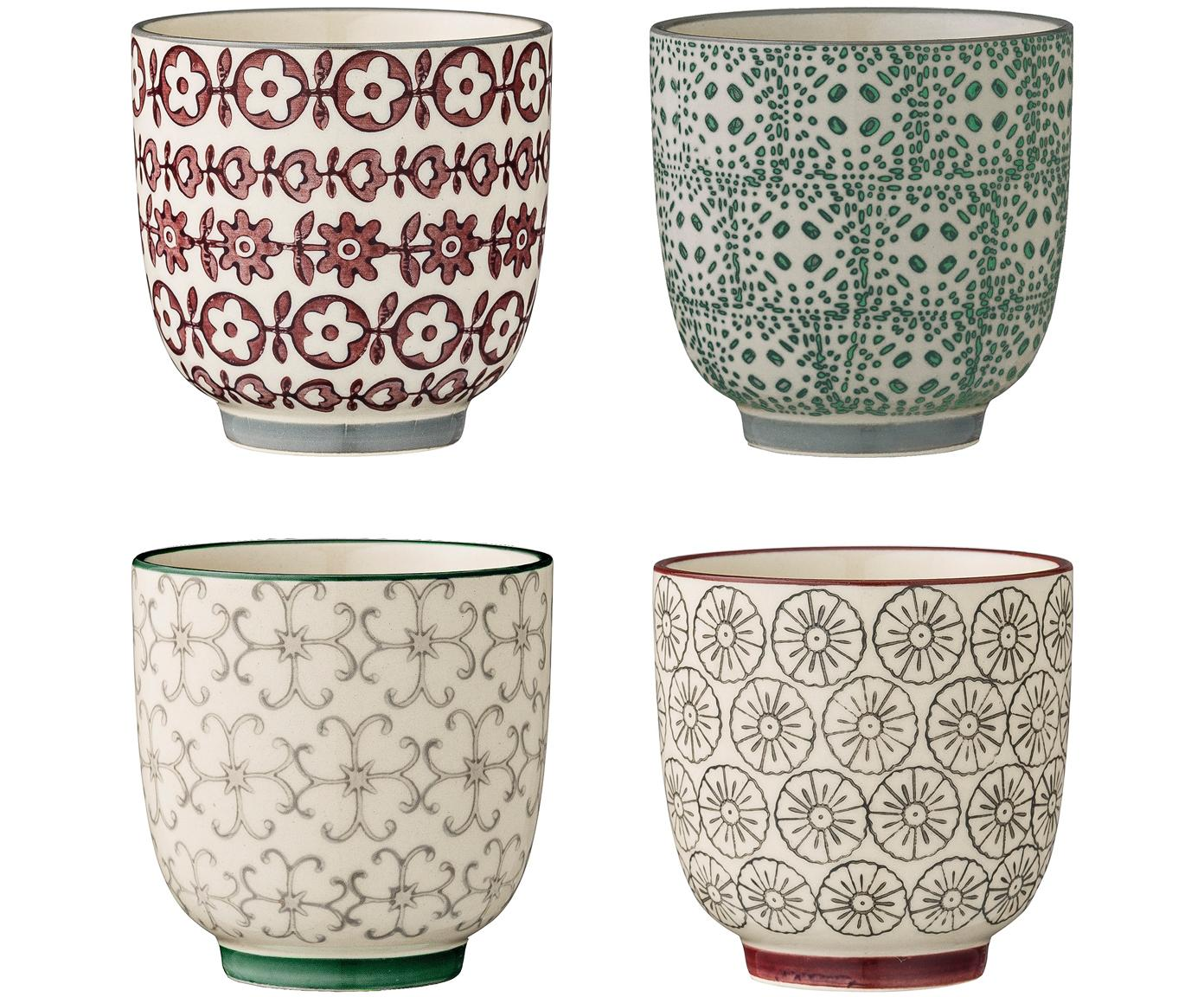 Set tazze Julia, 4 pz., Ceramica, Multicolore, Ø 7 x Alt. 7 cm