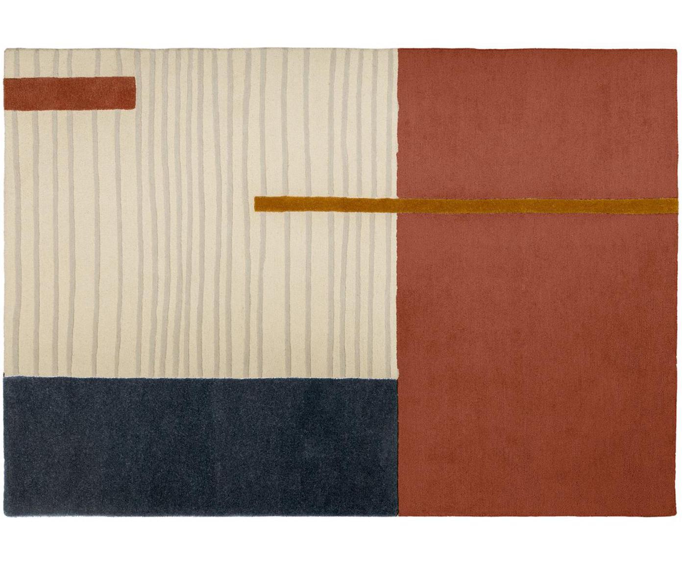 Wollteppich Bahiti mit geometrischem Muster, Mehrfarbig, B 160 x L 230 cm (Grösse M)
