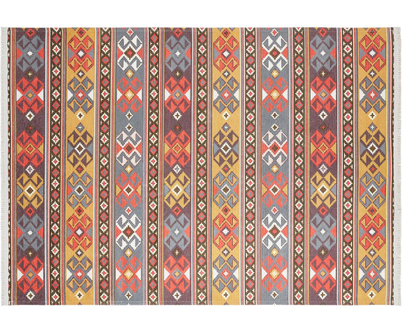 Alfombra kilim Kevan, estilo oriental, Parte superior: 50%poliéster, 50%algodó, Reverso: poliéster, Multicolor, An 160 x L 230 cm (Tamaño M)
