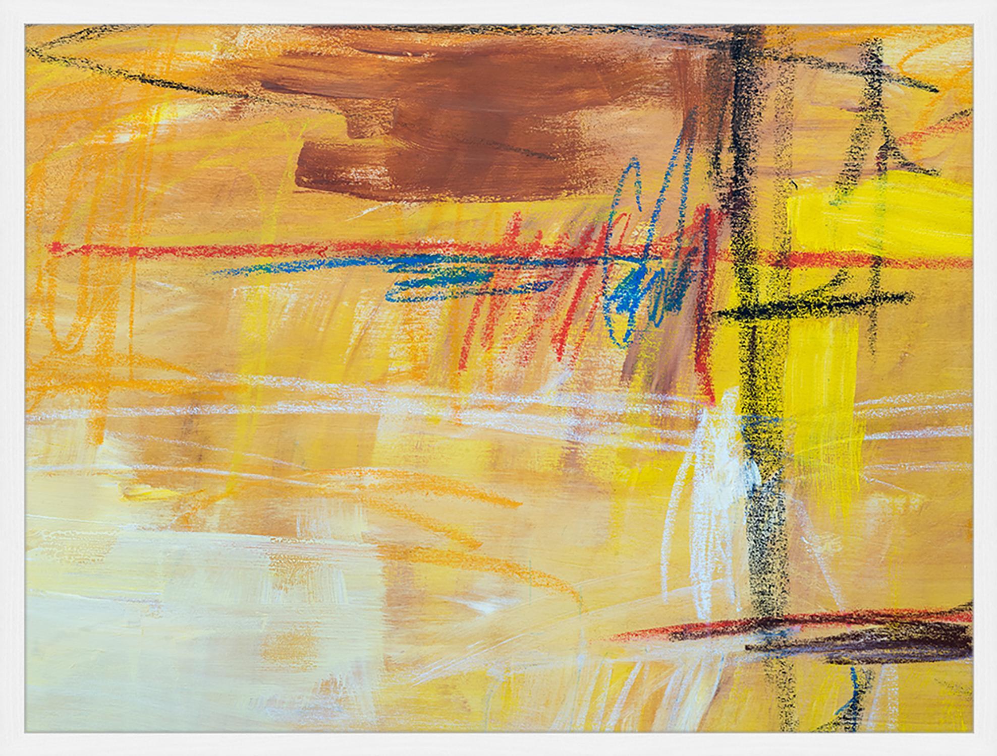 Oprawiony druk cyfrowy Abstract Art IV, Wielobarwny, S 83 x W 63 cm
