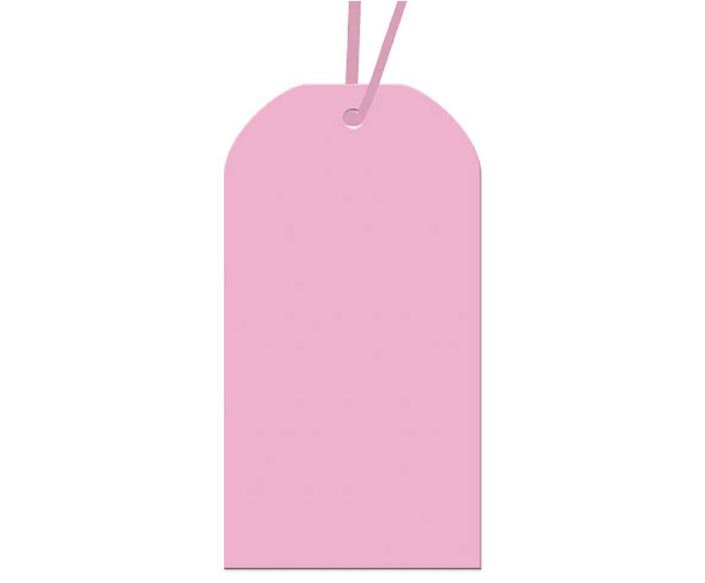 Cadeaukaartjes Lily, 5 stuks, Papier, Roze, 10 x 5 cm