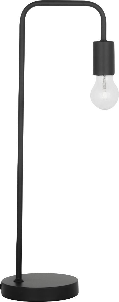Schreibtischlampe Flow aus Metall, Schwarz, 22 x 56 cm