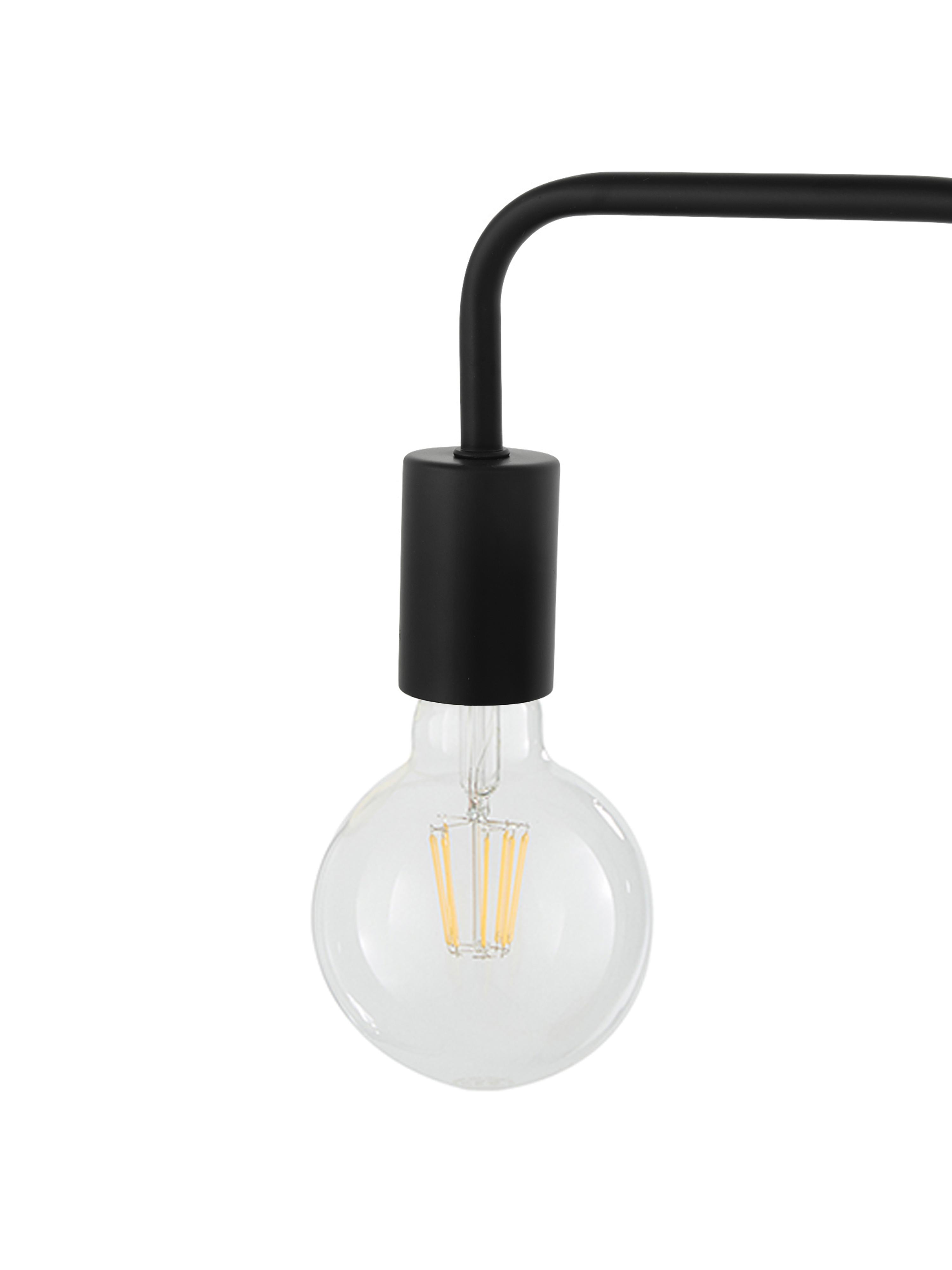 Tafellamp Flow, Zwart, 22 x 56 cm