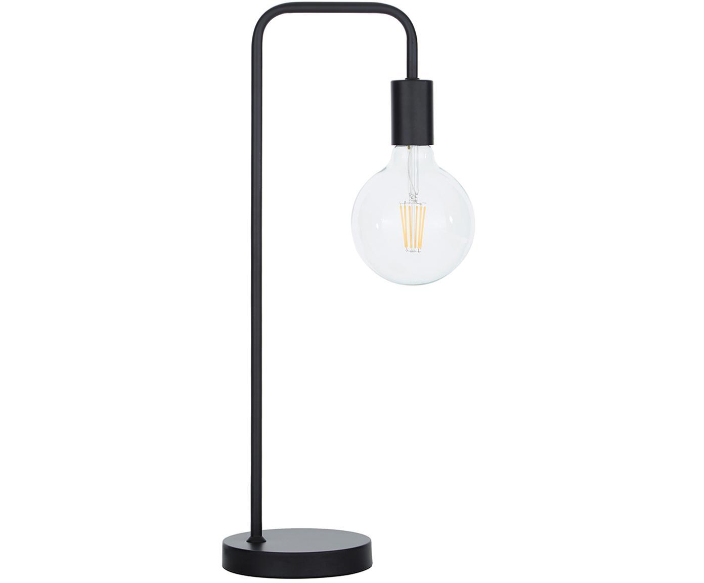 Lampada da tavolo Flow, Nero, nero, Larg. 22 x Alt. 56 cm