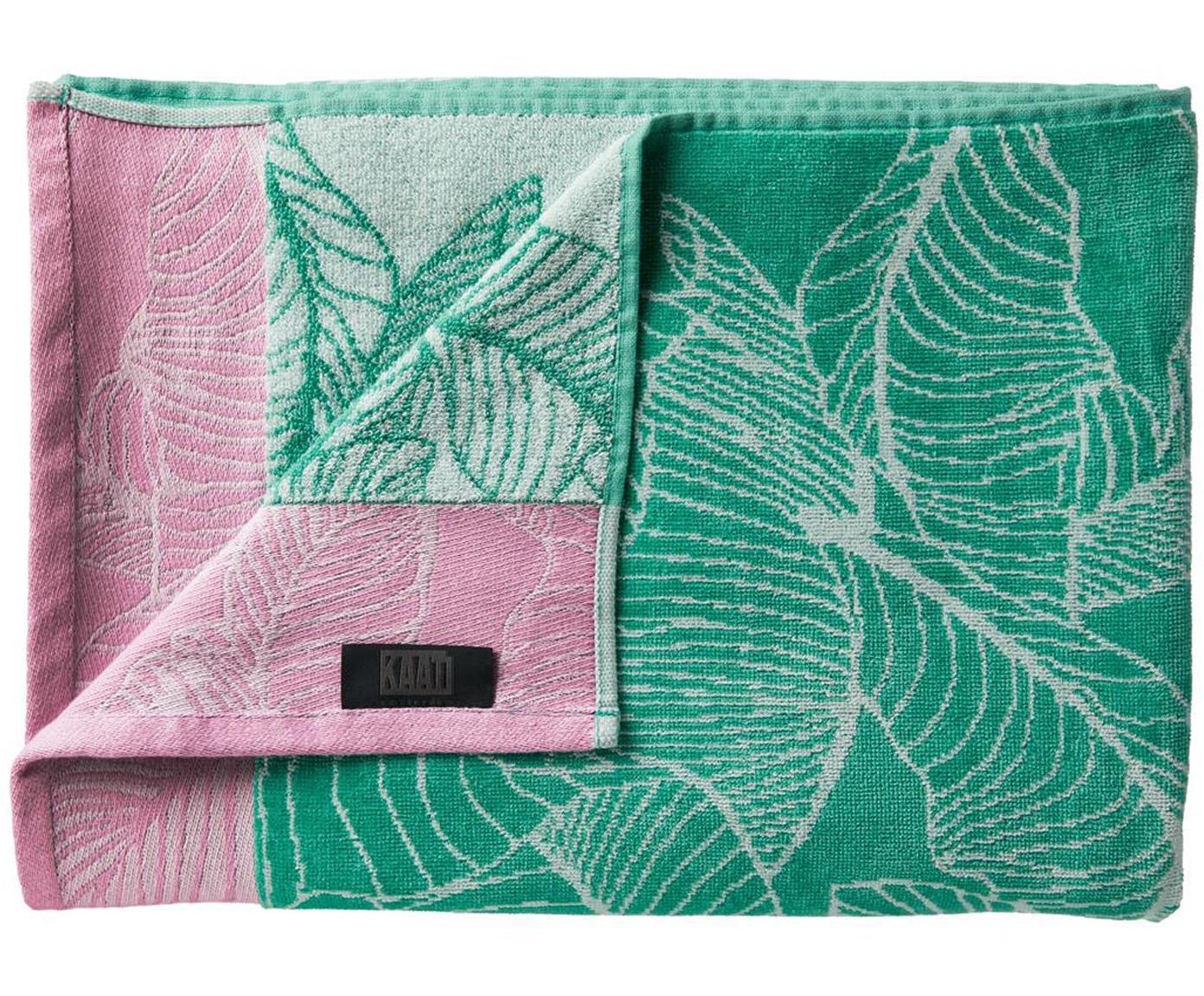 Ręcznik plażowy Fresh Mint, Bawełna, Zielony, blady różowy, biały, S 100 x D 180 cm