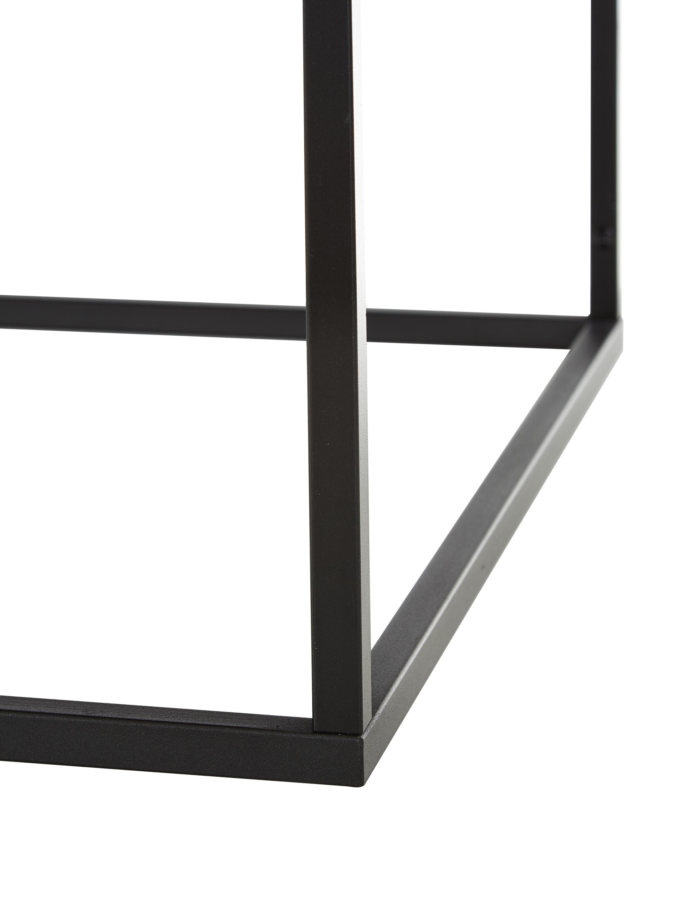 Mesa de centro de metal Virum, Metal con pintura en polvo, Negro, An 90 x F 60 cm