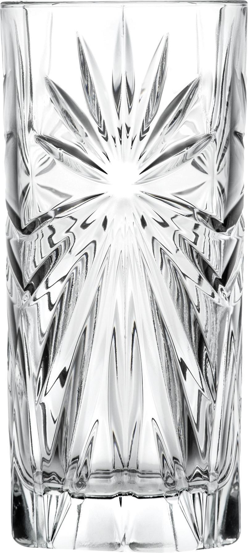 Bicchiere long drink in cristallo Bichiera 4 pz, LUXION® cristallo, Trasparente, Ø 7 x Alt. 15 cm