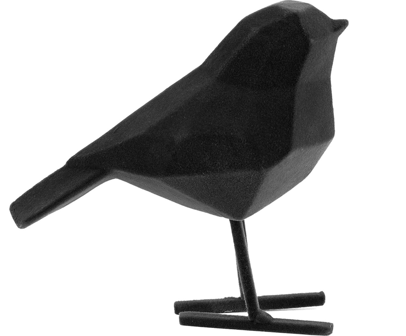 Decoratief object Bird, Polyresin, Zwart, 17 x 14 cm