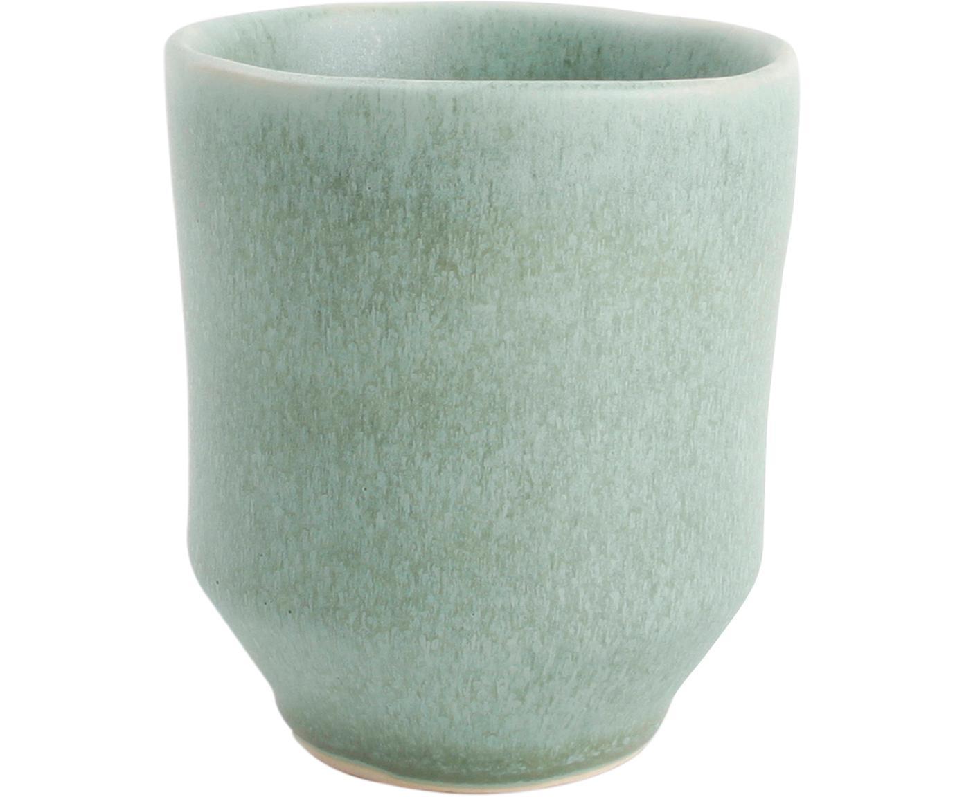 Bekers Glamm, 4 stuks, Keramiek, Groen, Ø 8 x H 9 cm