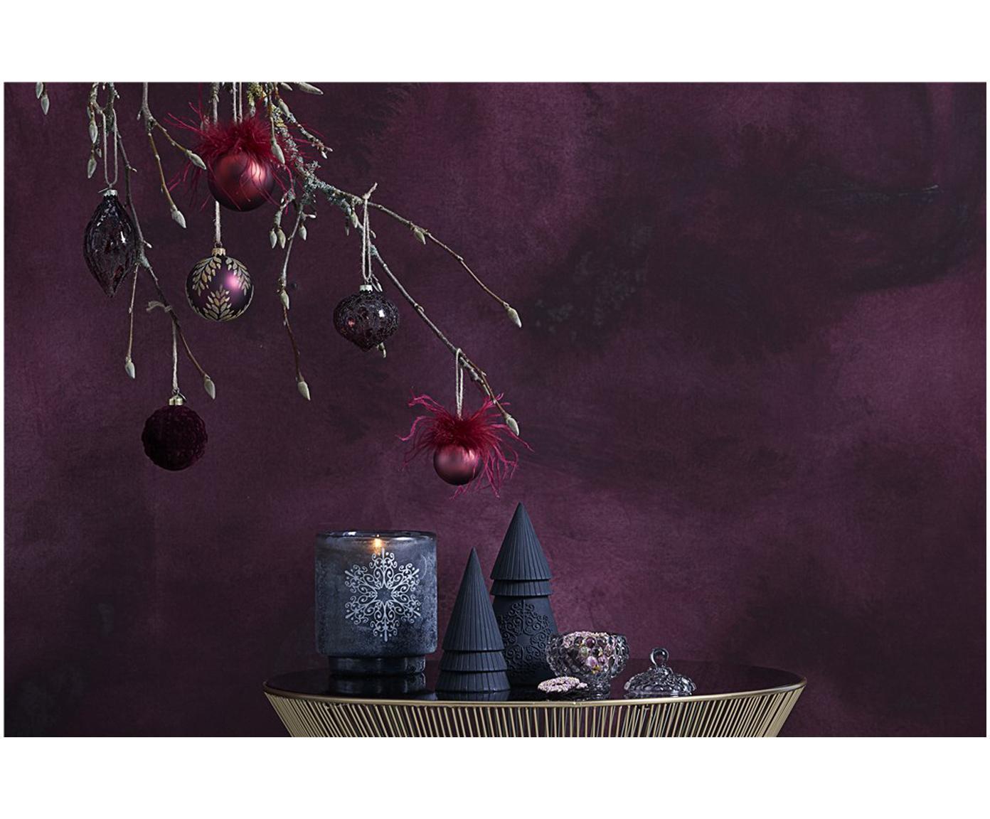 Palla di Natale Charity, 2 pz., Rosso scuro, Ø 8 x Alt. 8 cm
