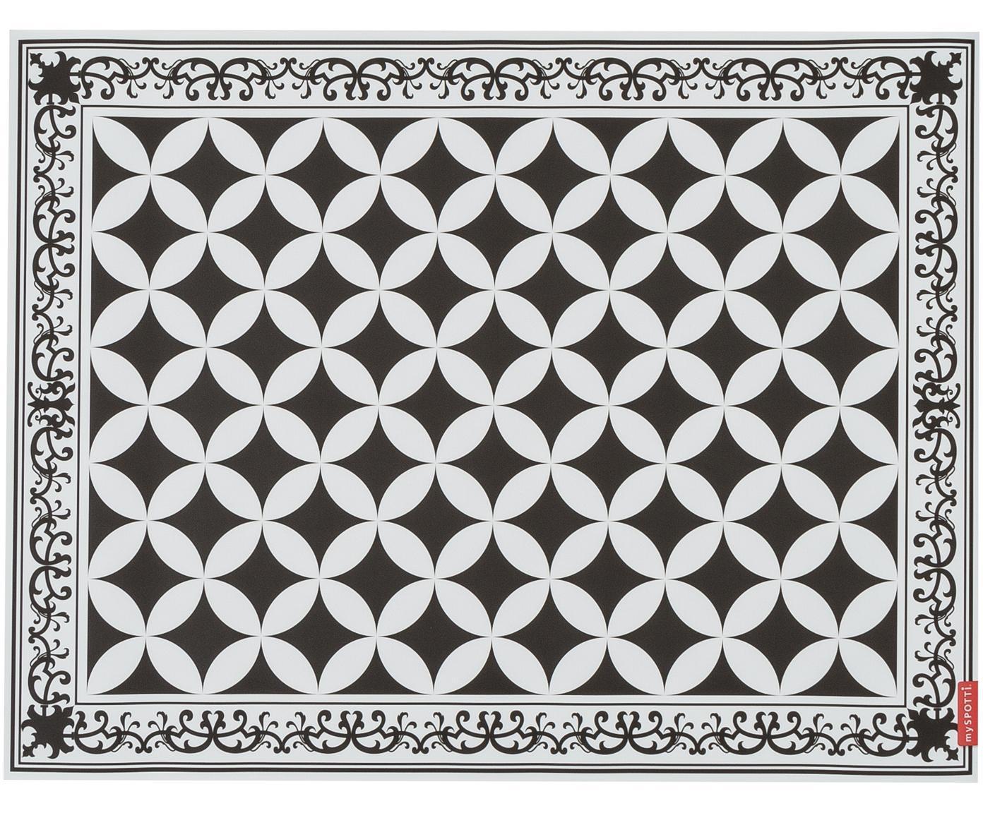Alfombra vinílica Chadi, Vinilo, Negro, blanco, An 65 x L 85 cm