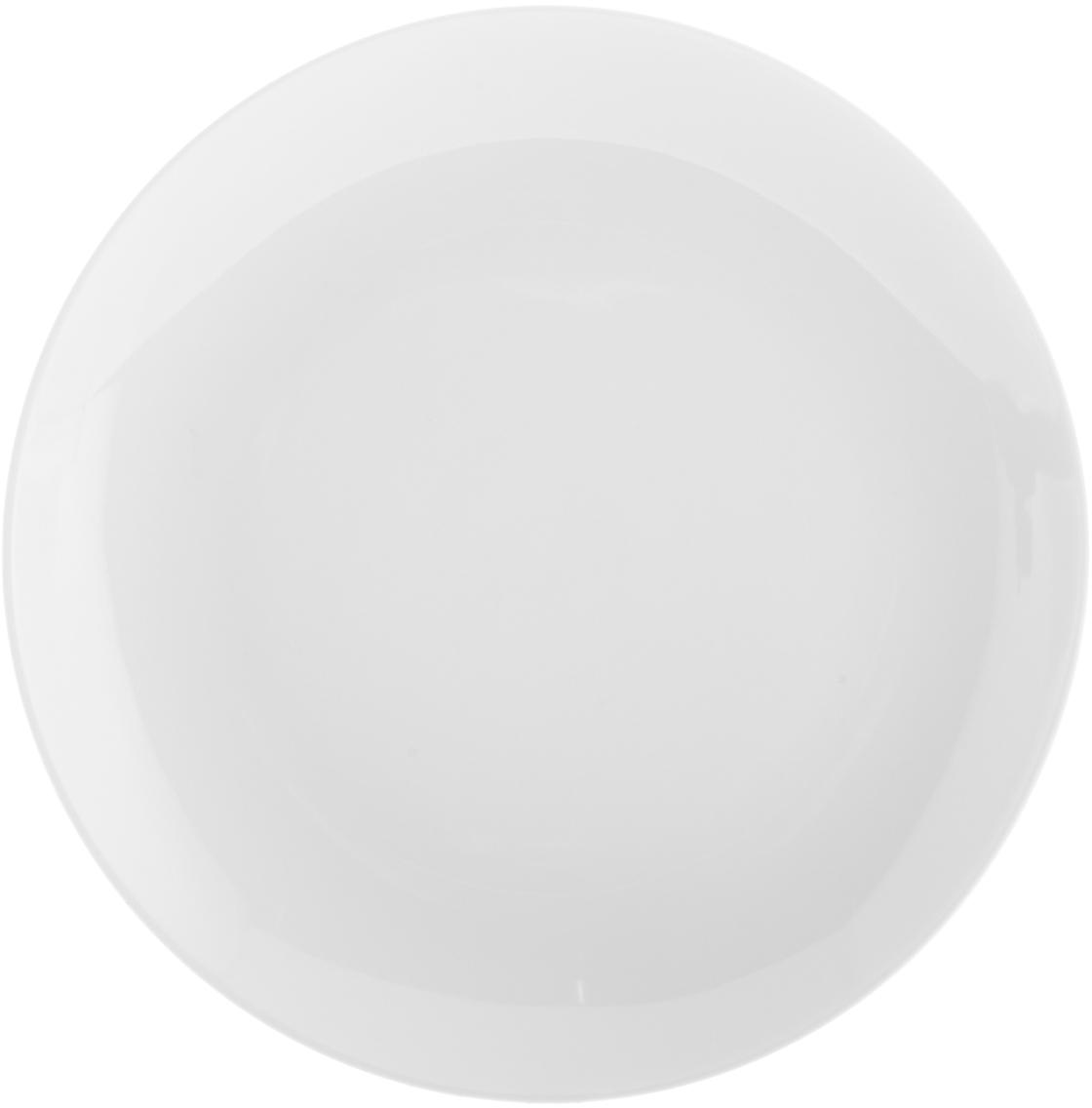 Platos de postre de porcelana Delight Modern, 2uds., Porcelana, Blanco, Ø 20 cm