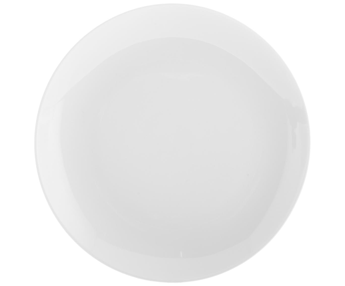 Ontbijtborden Delight Modern, 2 stuks, Porselein, Wit, Ø 20 cm