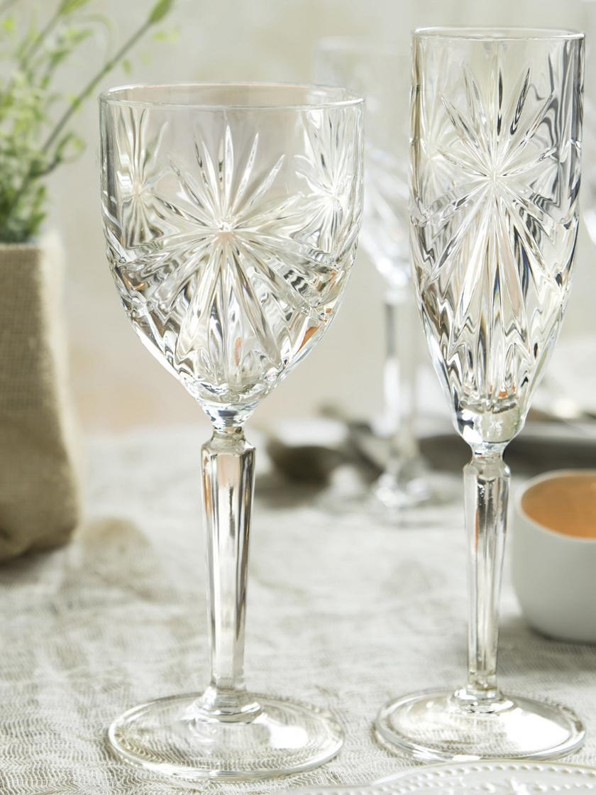 Kristall-Weißweingläser Oasis, 6er-Set, Luxion-Kristallglas, Transparent, Ø 8 x H 20 cm