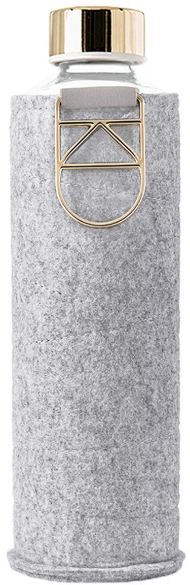 Borraccia Mismatch, Coperchio: acciaio inossidabile, tri, Grigio, trasparente, dorato, Ø 8 x Alt. 26 cm